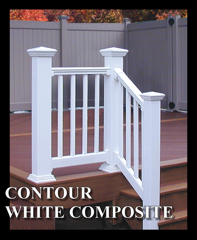 Composite deck composite deck stair railing for Composite deck railing